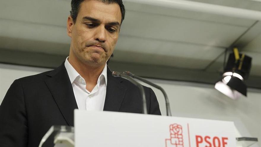 """Pedro Sánchez dimite como secretario general del PSOE: """"Ha sido un honor"""""""