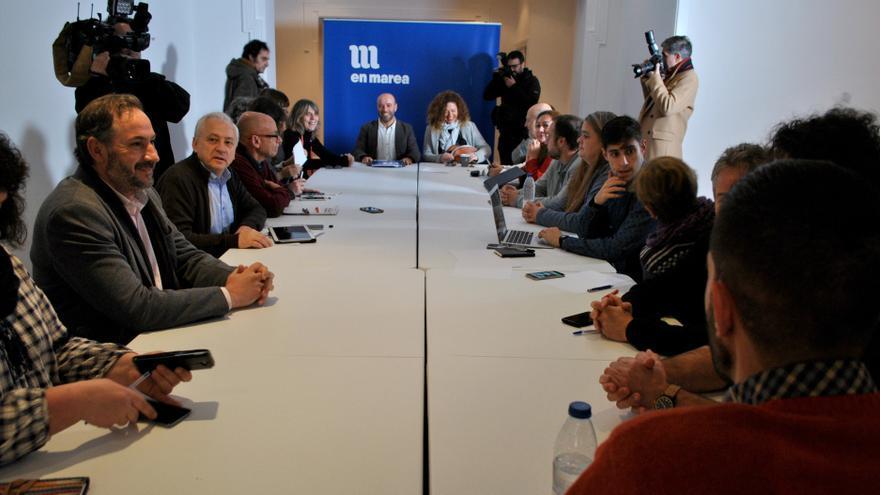 Constitución de la nueva dirección de En Marea, el Consello das Mareas, sin los 14 representantes de los críticos