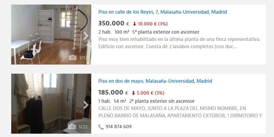 Dos pisos rebajados, a la venta en Malasaña | IDEALISTA