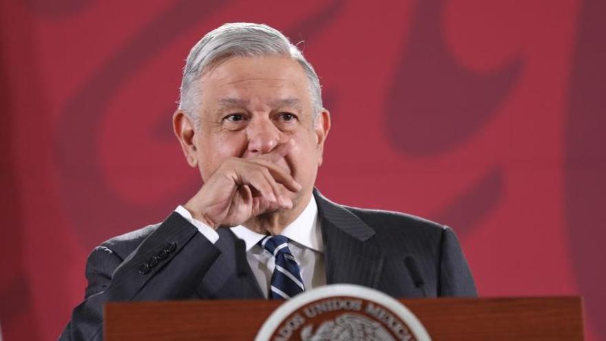 El presidente de México, Andrés Manuel López Obrador, ofrece una conferencia de prensa matutina este martes, en el Palacio Nacional de Ciudad de México (México).