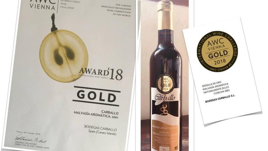 En la imagen, el vino premiado.