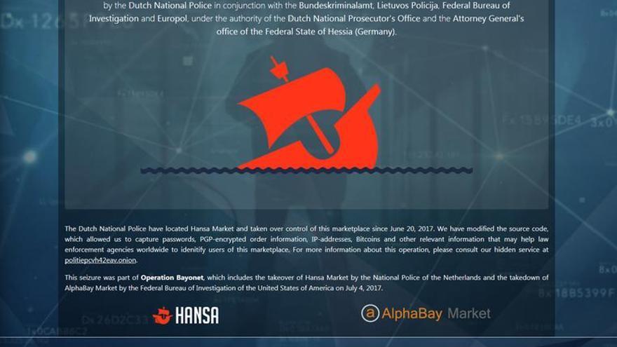 El aviso de las autoridades anunciando que Hansa estaba cerrado