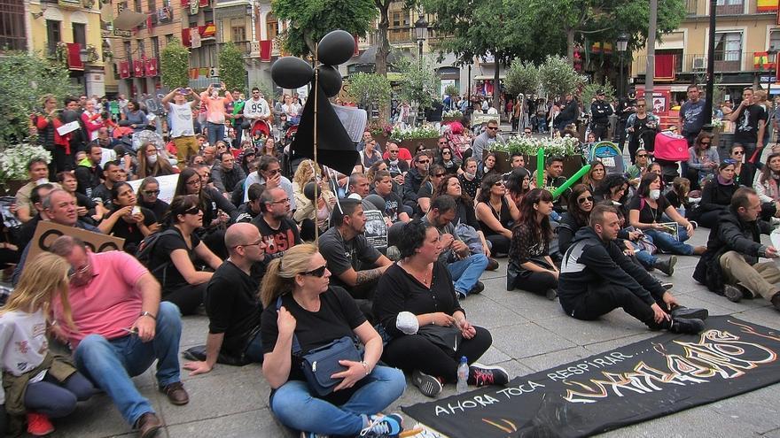 Vecinos de Seseña protestan en Toledo