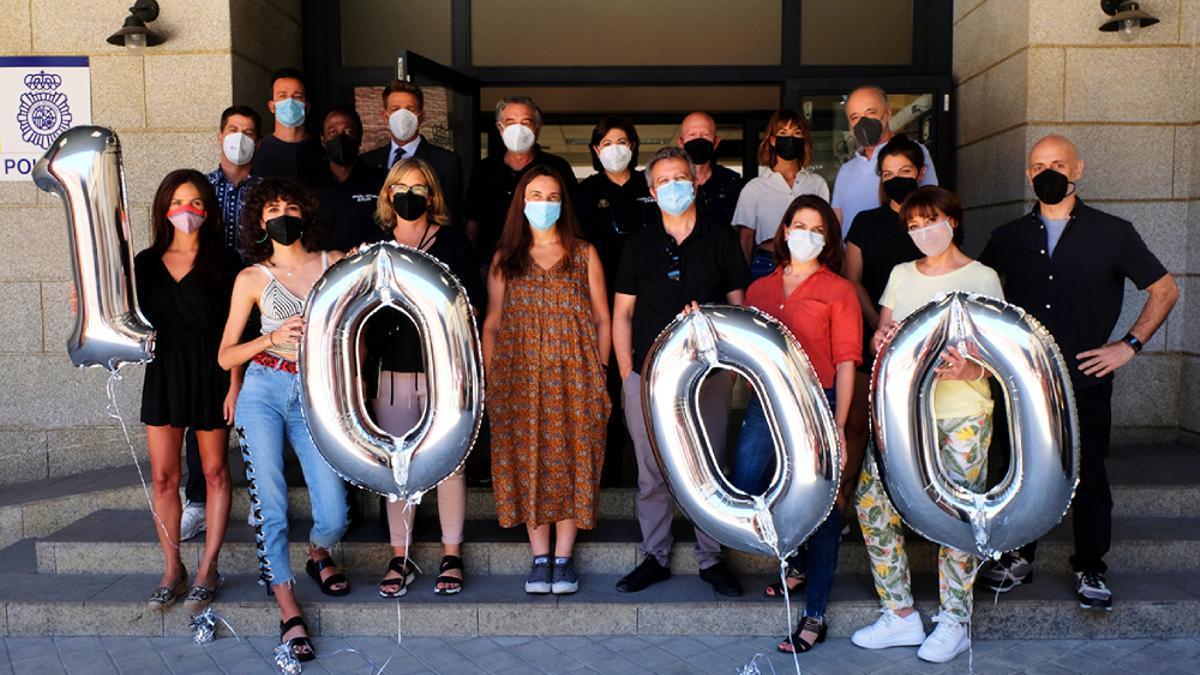 El equipo de 'Servir y proteger' celebra sus 1.000 capítulos