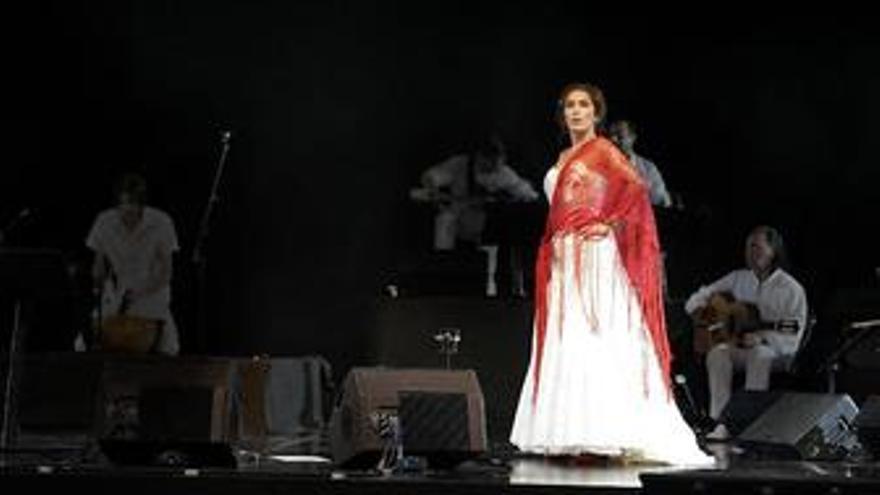 Estrella Morente en el concierto.