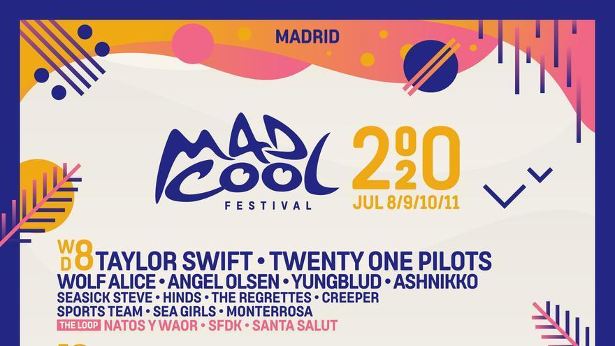 Cartel del Mad Cool 2020, famoso por la estrategia de la exclusividad