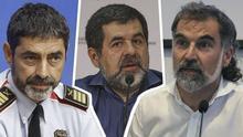 Josep Lluis Trapero, Jordi Sànchez, Jordi Cuixart.