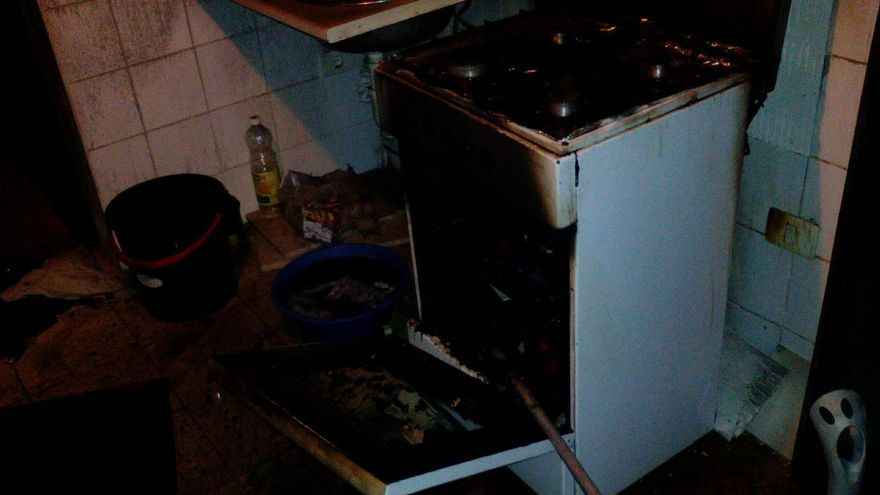 El incendio se registró en la cocina de la vivienda. Foto: BOMBEROS LA PALMA.