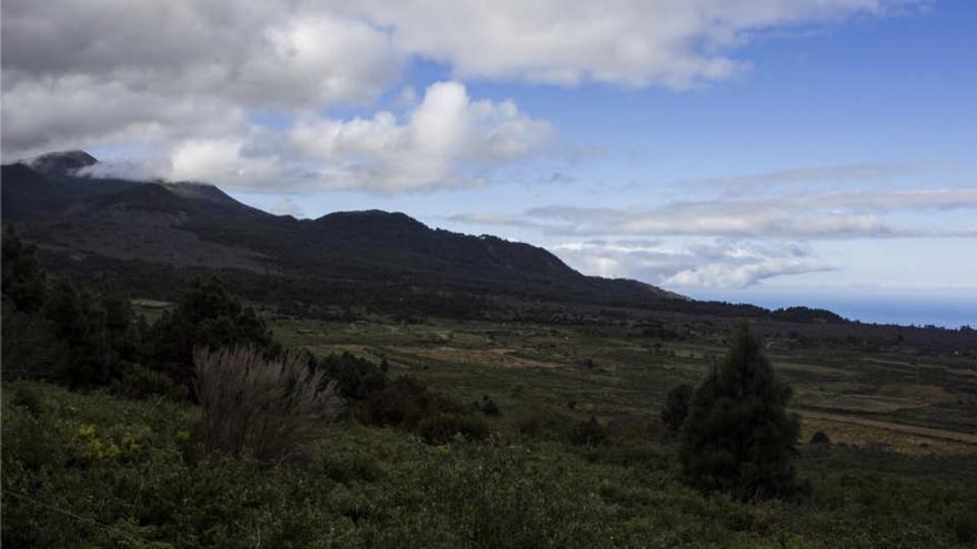 Panorámica del entorno del LLano de Las Cuevas, en el municipio de El Paso.