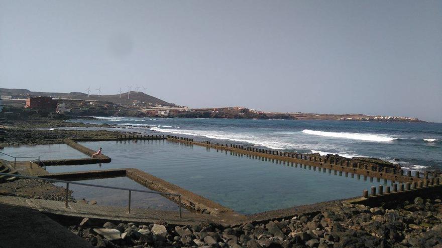 Playa de El Agujero, en Gáldar.