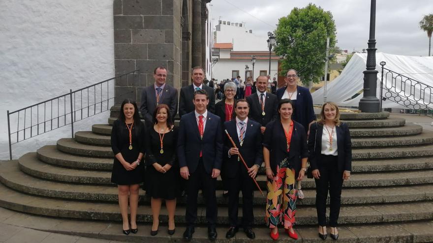 Integrantes del nuevo grupo de gobierno local en Tacoronte, con el PSOE, NC-FA y Sí Se Puede