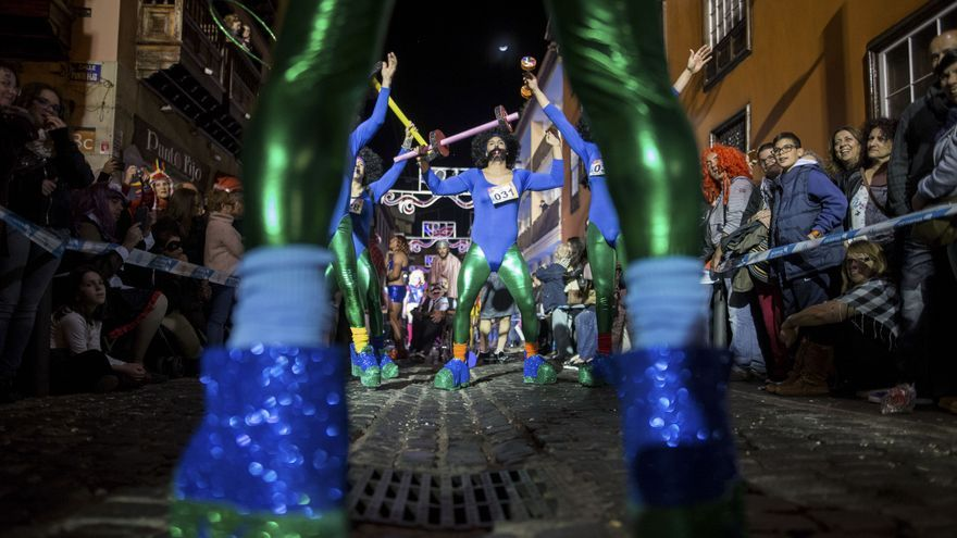 Imagen de archivo del desfile que celebra Puerto de la Cruz