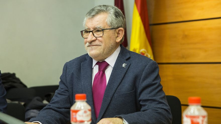 Ángel Felpeto, este miércoles, en la Comisión de Educación de las Cortes regionales