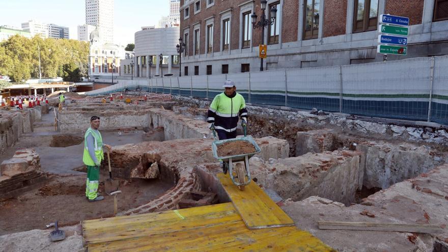 Obras en Plaza de España, una de las partidas que se recortan en los presupuestos de 2020