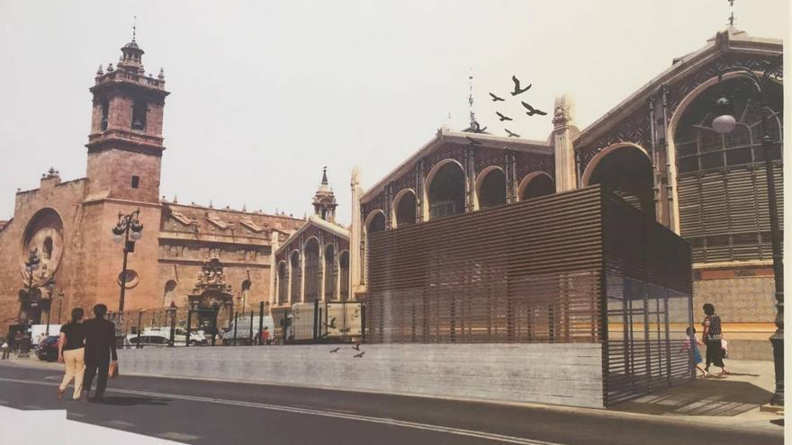 Fuguración virtual de uno de los accesos al aparcamiento de Ciudad de Brujas