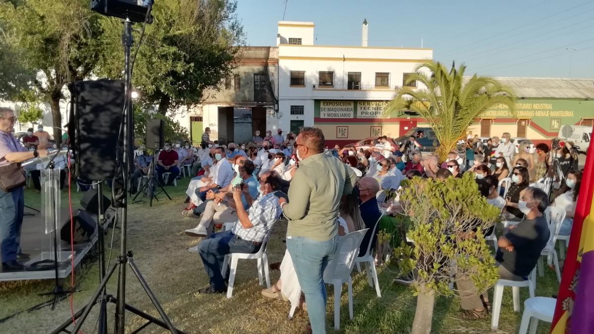 Un momento del acto en homenaje a los integrantes de la Columna Minera de Riotinto.