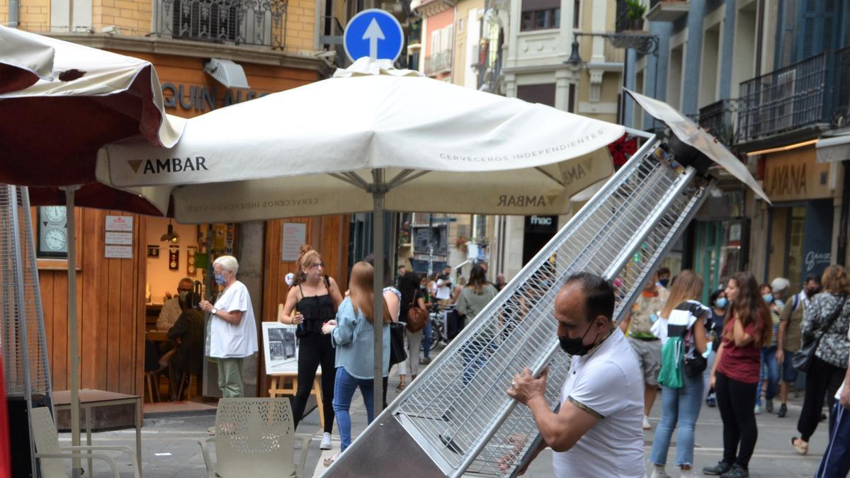 Imagen de un bar del centro de Pamplona