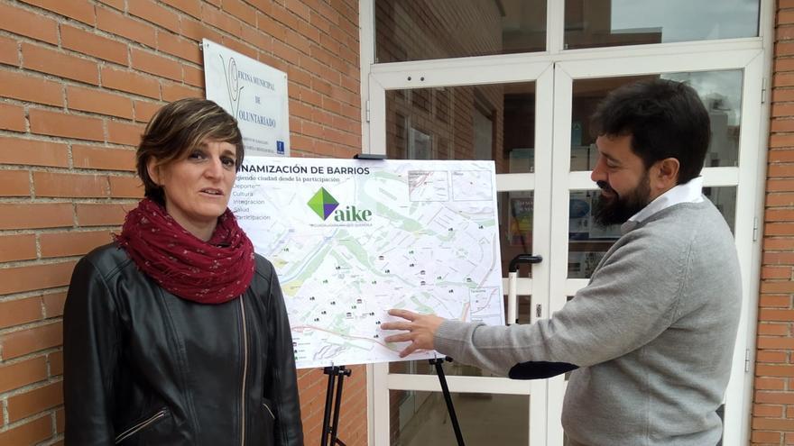 Jorge Riendas y Susana Martínez, candidatos de Aike FOTO: Aike
