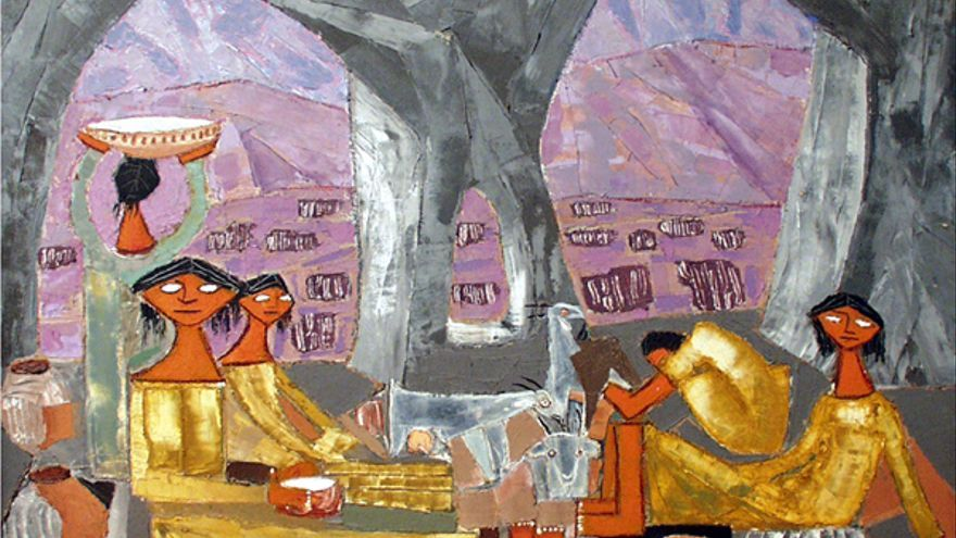 La Cueva, cuadro de Antonio Padrón. CASA MUSEO ANTONIO PADRÓN.