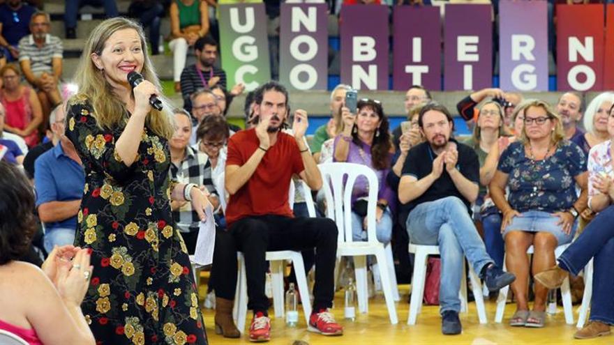 Victoria Rosell, en el acto celebrado por Unidas Podemos en Las Palmas de Gran Canaria
