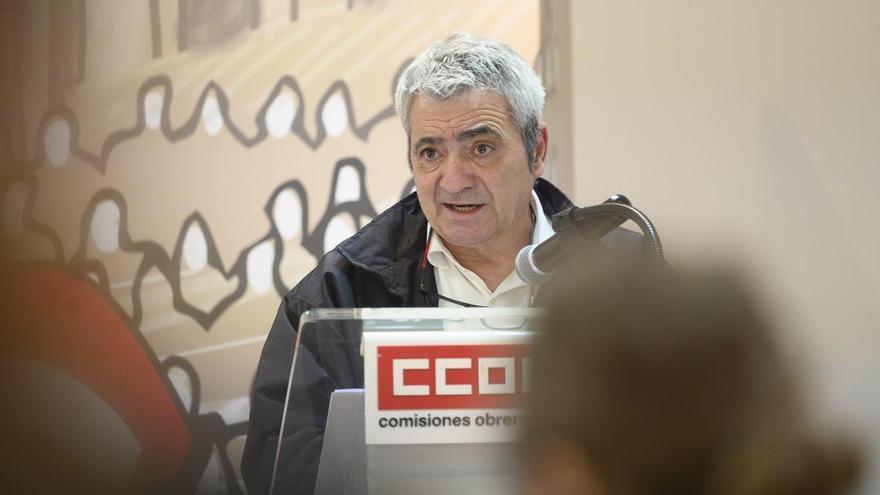Carlos Sánchez, secretario general de CCOO Cantabria. | JOAQUÍN GÓMEZ SASTRE