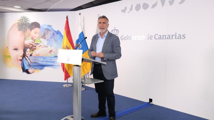 El presidente de Canarias, Ángel Víctor Torres en la sede de Presidencia.