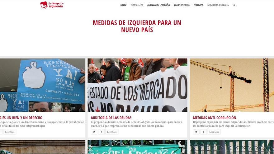IU estrena web electoral para acercar a los ciudadanos su programa y candidatos