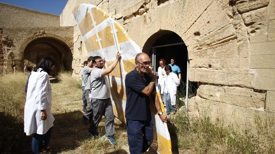 Un equipo del Gobierno aragonés esperará en el Monasterio de Sijena las 44 obras que Cataluña debe devolver