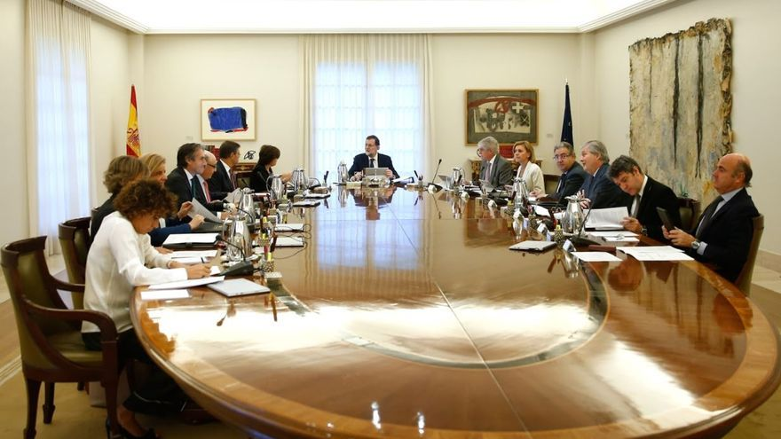 Consejo de ministros que aprueba el requermiento previo del artículo 155 de la Constitución