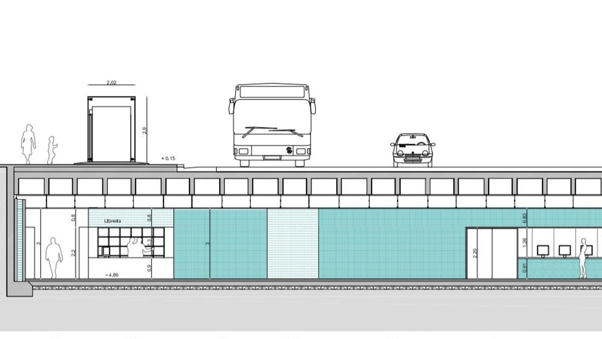 Sección de la futura entrada al pasaje de Colón más cercana a la calle Génova