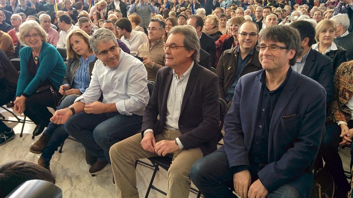 Mas y Puigdemont, en un acto del PDeCAT