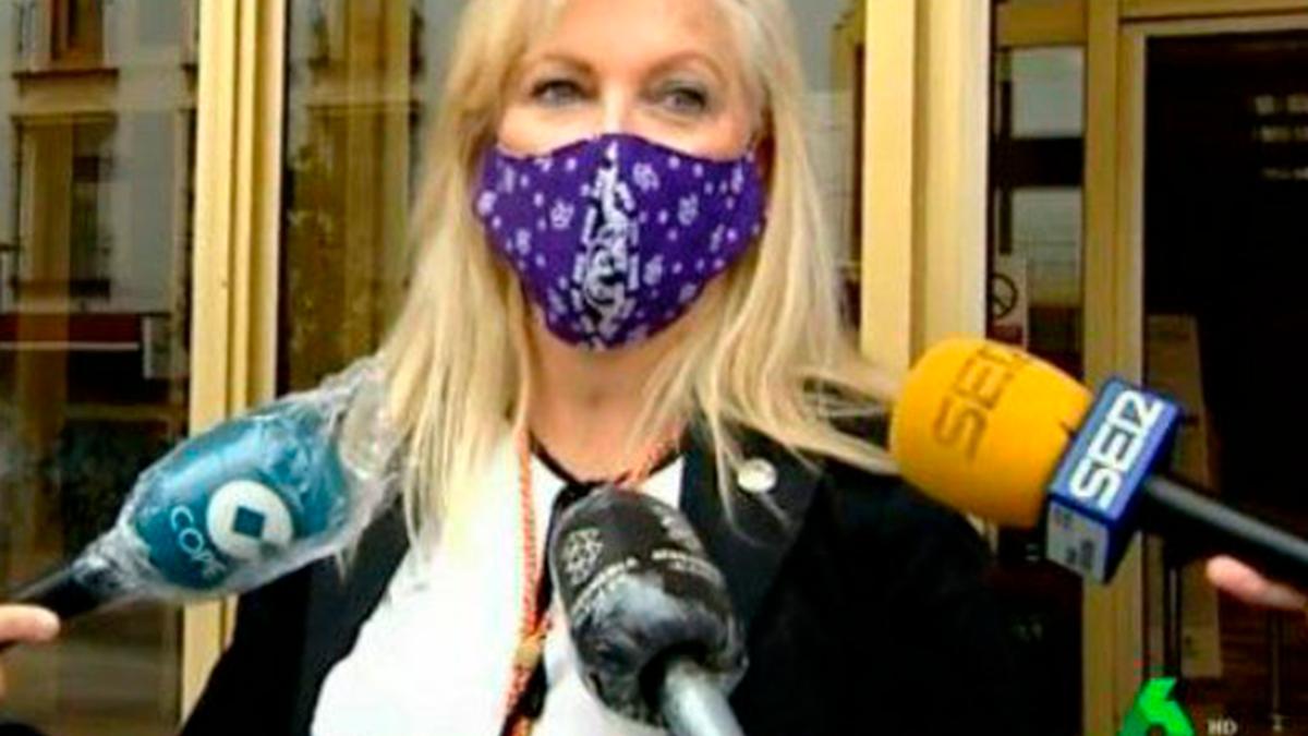 La portavoz de Podemos, Cristina Pedrajas.