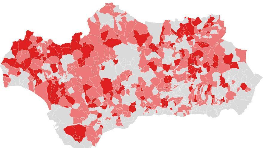 mapa hegemonia psoe andalucia