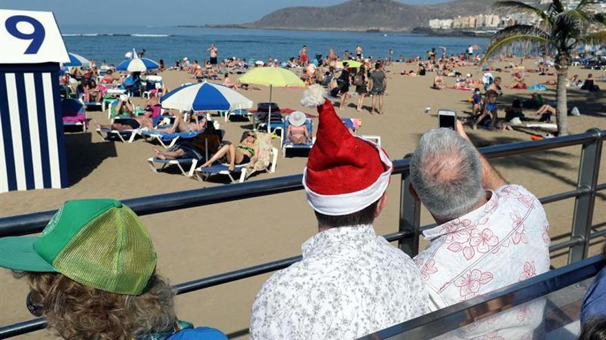 Día de sol y playa en Gran Canaria esta Navidad.
