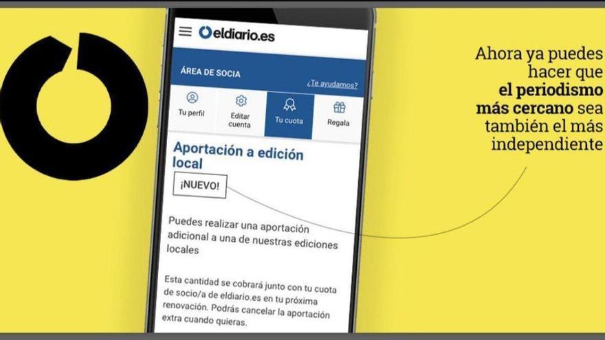 Al hacerte socio/socia ya puedes hacer aportación extra a tu edición local.