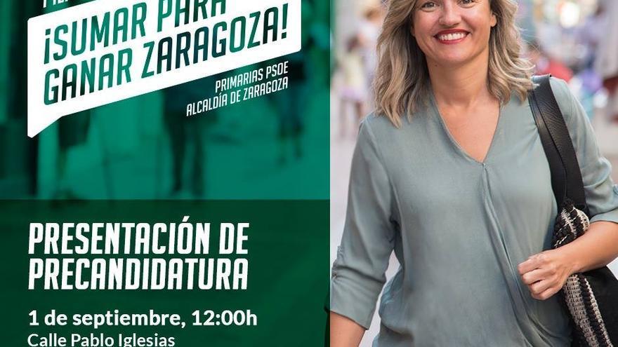 Presentación de la candidatura de Pilar Alegría a las primarias del PSOE para la Alcaldía de Zaragoza