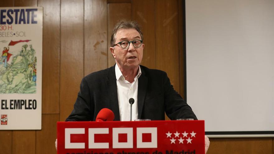 El secretario general de CCOO Madrid, Jaime Cedrún, en una imagen de archivo