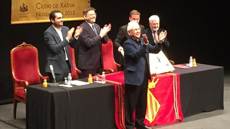 Raimon agradece al público de Xàtiva su reconocimiento como Hijo Predilecto