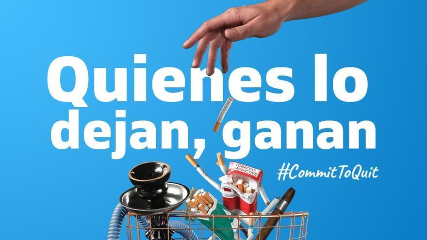 Imagen de la campaña de la Organización Mundial de la Salud para dejar de fumar