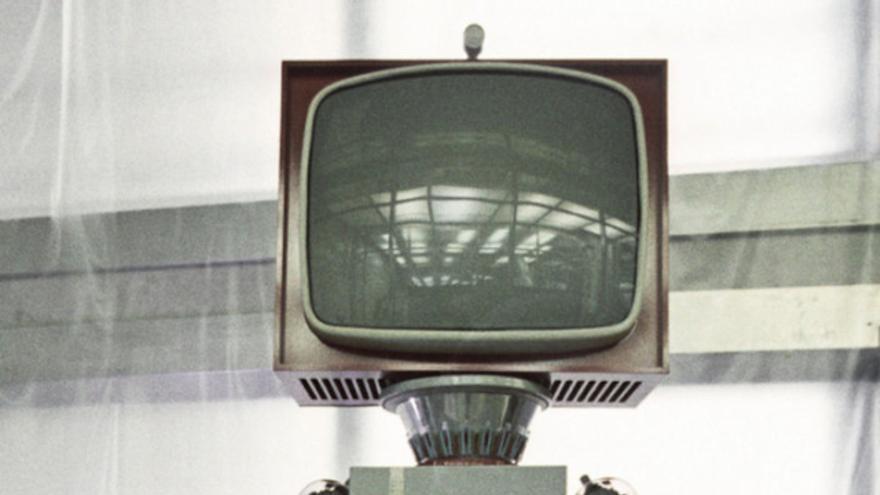 Un robot televisor de la URSS, en los años 50 (Imagen: Ria Novosti)