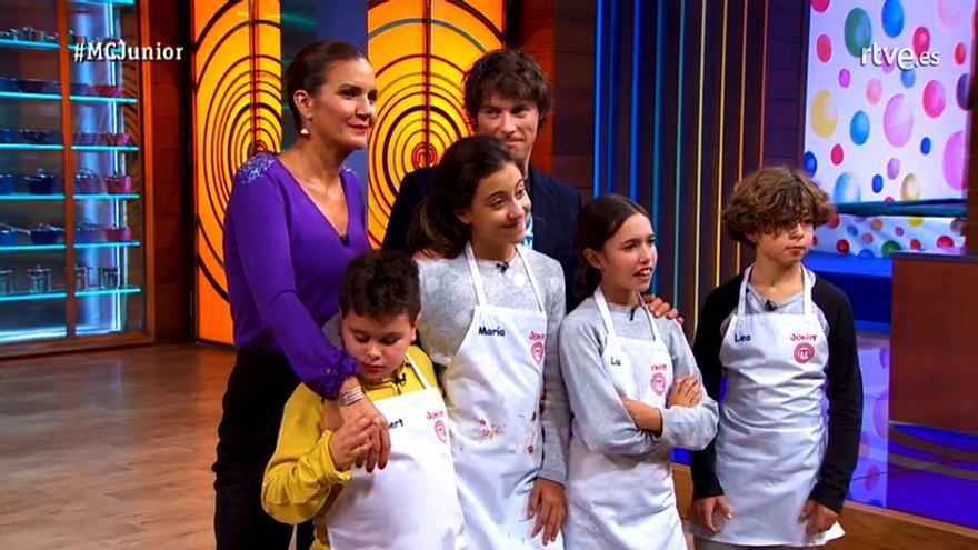 Albert, María, Lu y Leo, los cuatro finalistas de MasterChef Junior