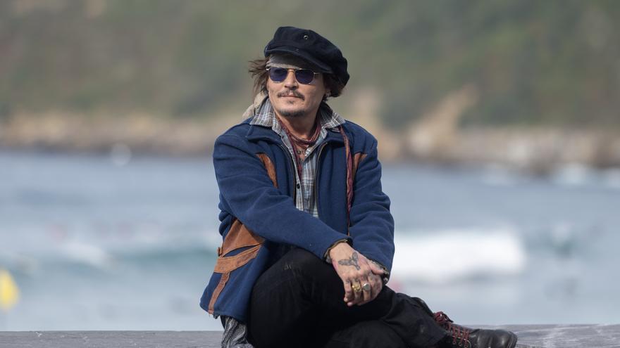 El actor Johnny Depp llega a la 69ª edición del Festival Internacional de Cine de San Sebastián, para recibir el Premio Donostia, en el palacio de Kursaal, a 22 de septiembre de 2021, en San Sebastián