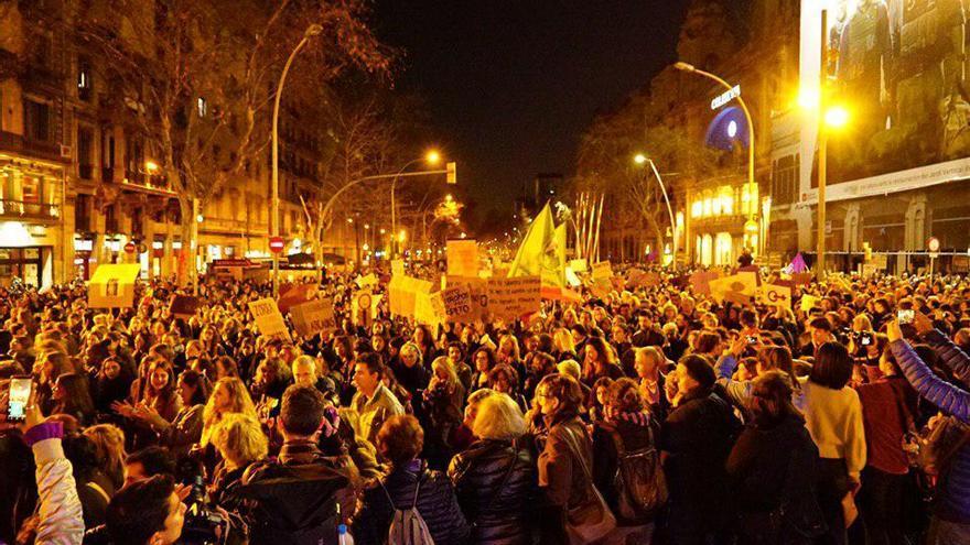 Manifestación del 8M en Barcelona