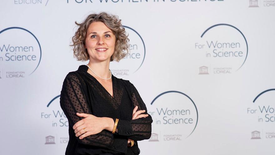 Sara Cogliati en la entrega de premios del programa For Women in Science L´Oréal-Unesco. / Paco Nuevo (Grupo L´Oréal España)