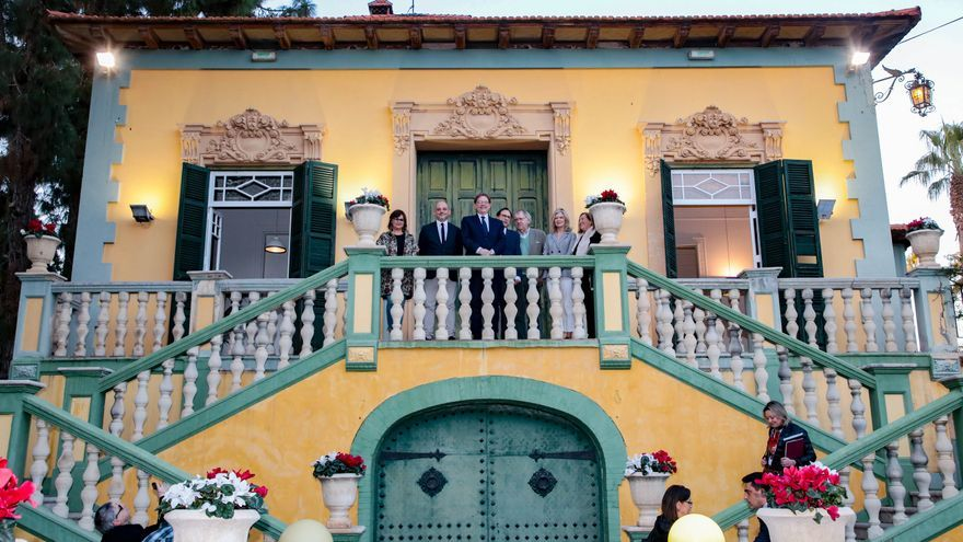 La casa en Rocafort donde vivió Antonio Machado durante el acto por el 80 aniversario de su muerte.