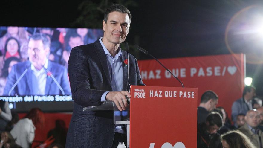 Pedro Sánchez protagoniza el cierre de campaña del PSOE en Valencia