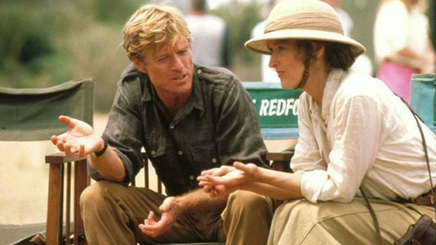 Robert Redford y Merryl Streep en Memorias de África