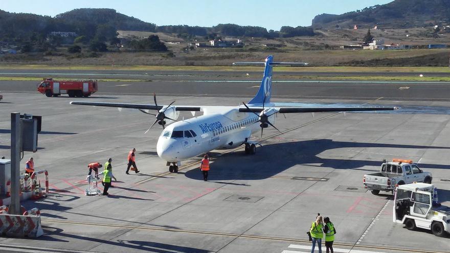 Avión ATR de Air Europa en el Aeropuerto de Tenerife Norte