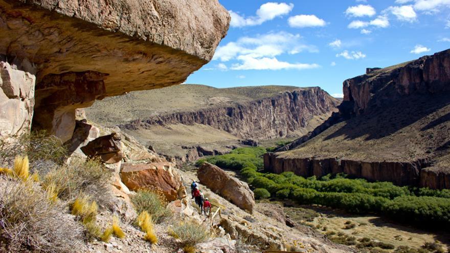 Cañada del Río Pinturas, en la provincia argentina de Santa Cruz, en la que se localiza la Cueva de Las Manos.