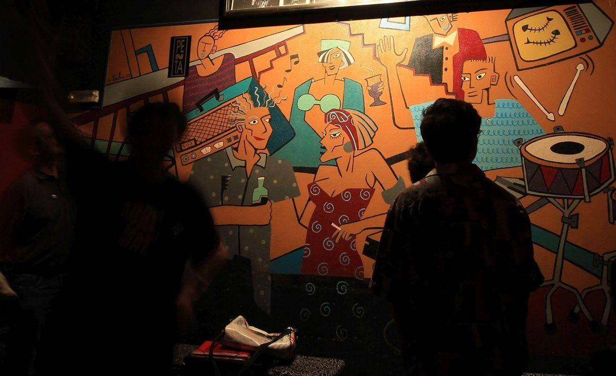 Mural en el interior de El Penta | FOTOS DEL REPORTAJE: RAQUEL ANGULO